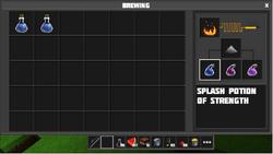 Splash potions brewing process