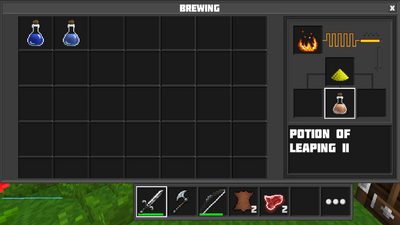 Brewing potion of leaping II