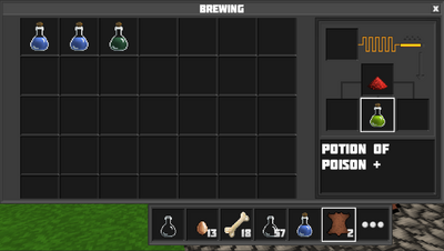 Brewing potion of poison