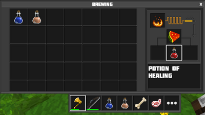 Brewing potion of healing