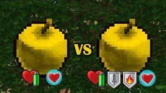 Golden Apple VS Golden Enchanted Apple-0