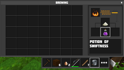Brewing potion of swiftness