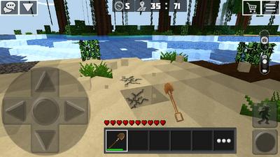 Digging sand