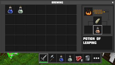 Brewing potion of leaping