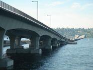 I-90 floating bridges looking west