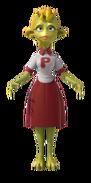 P51 cheerleader