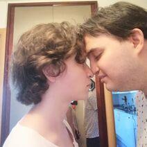 O Josep Maria e a Patrícia a nassar-se
