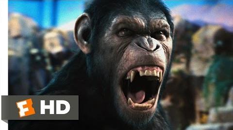 Rise of the Planet of the Apes (1 5) Movie CLIP - Caesar Speaks (2011) HD