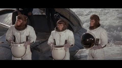 Escape from the Planet of the Apes (1971) Cornelius, Zira and Milo arrive on Earth