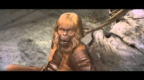 Planet of the Apes - Taylor, Zaius final scene