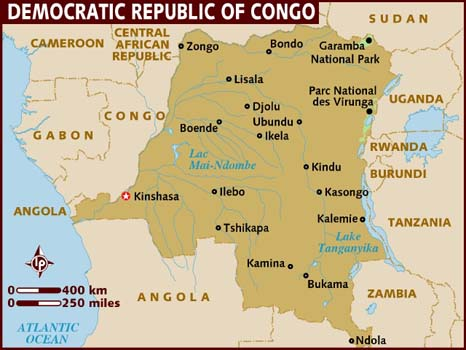 Image Map of democraticrepublicofcongojpg Planet of the Apes