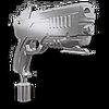 Chrome Pistol Hood Ornament TR