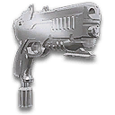 Chrome Pistol Hood Ornament TR