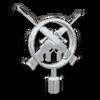 Crossed Sniper Rifles Hood Ornament