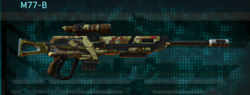 India scrub sniper rifle m77-b