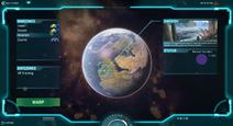 New World Map Screen