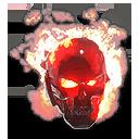 Crimson Inferno Skull TR Helmet