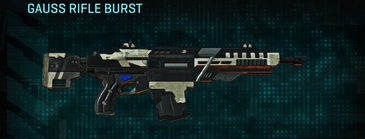 Indar dry ocean assault rifle gauss rifle burst