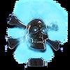 NC Flaming Skull Hood Ornament