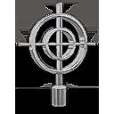 Chrome Crosshair Hood Ornament