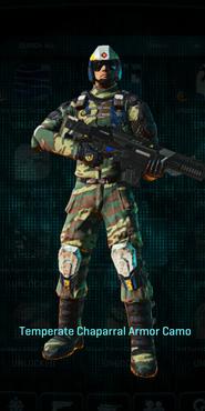 Temperate chaparral combat medic