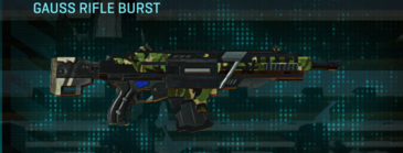 Jungle forest assault rifle gauss rifle burst