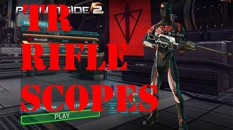 Planetside 2 TR Rifle Sights & Scopes