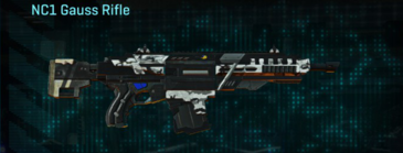 Forest greyscale assault rifle nc1 gauss rifle