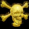 Gold Skull Hood Ornament