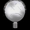 Chrome Smiley Face Dead Hood Ornament