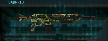 Jungle forest assault rifle sabr-13