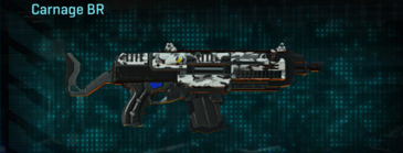Forest greyscale assault rifle carnage br
