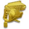 Gold Pistol Hood Ornament VS