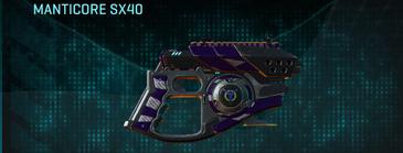 Vs zebra pistol manticore sx40