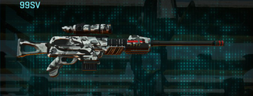 Forest greyscale sniper rifle 99sv