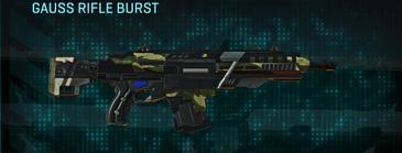Temperate forest assault rifle gauss rifle burst
