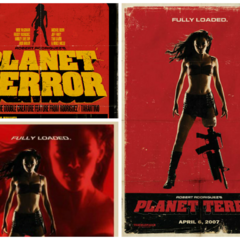 Film poster collage.