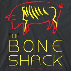 The Bone Shack on  a T-shirt.
