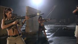 The Badass Babes of Planet Terror, Emmy Robbin with an M16A2 and Electra Avellan with an M16 or M16A1.