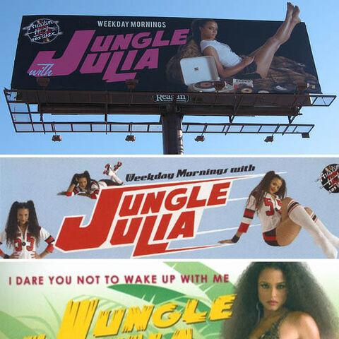Jungle Julia billboards.