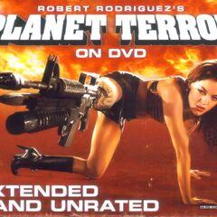 Planet Terror on DVD.