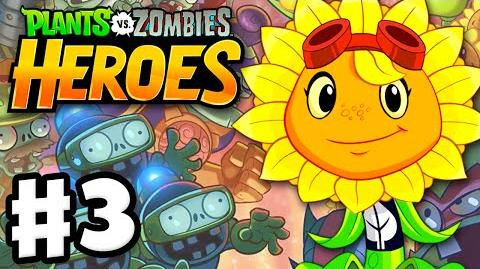Plants vs. Zombies- Heroes - Gameplay Walkthrough Part 3 - Solar Flare Hero! (iOS, Android)