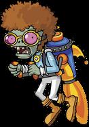 Plants vs zombies 2 jetpack disco zombie the zombi by illustation16-d7cyrv4