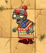 Christmas Poncho Zombie