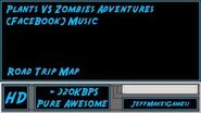 Plants VS Zombies Adventure (FaceBook) Music - Road Trip Map-0