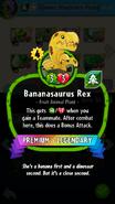 Bananasaurus Rex's statistics