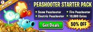 Peashooter Starter Pack ads