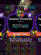Gargantuar Throwing Imp Statistics