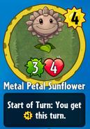 Receiving Metal Petal Sunflower