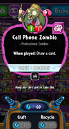 Cell Phone Zombie stats